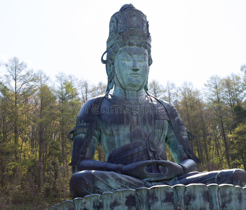 japón Buda grande de la prefectura de Aomori imagenes de archivo