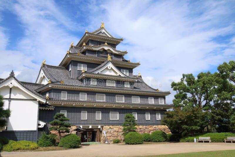 Japón: Castillo de Okayama imágenes de archivo libres de regalías