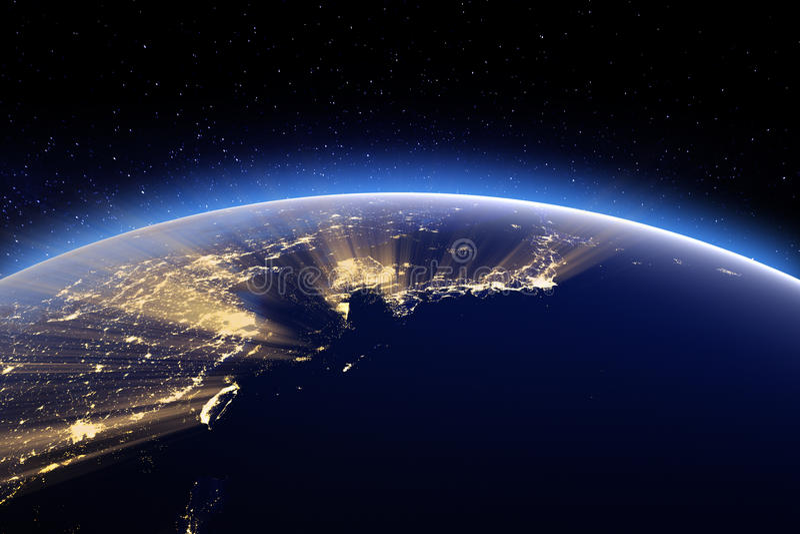 Japón, Corea, Taiwán, China Elementos de esta imagen equipados cerca stock de ilustración