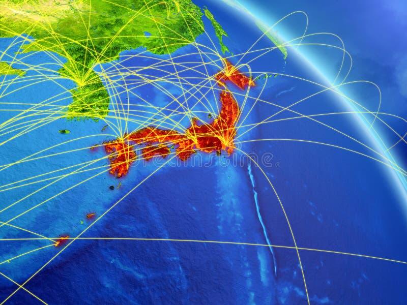 Japón del espacio con la red libre illustration
