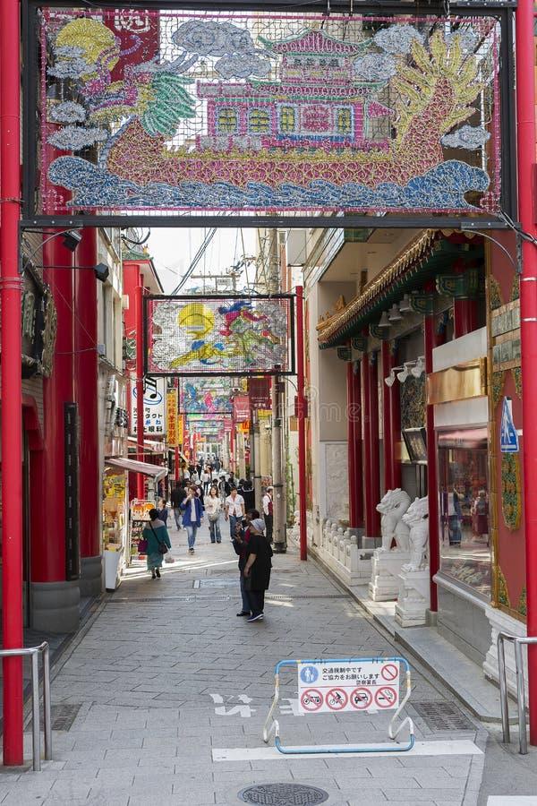 Japón, Nagasaki Chinatown imagen de archivo