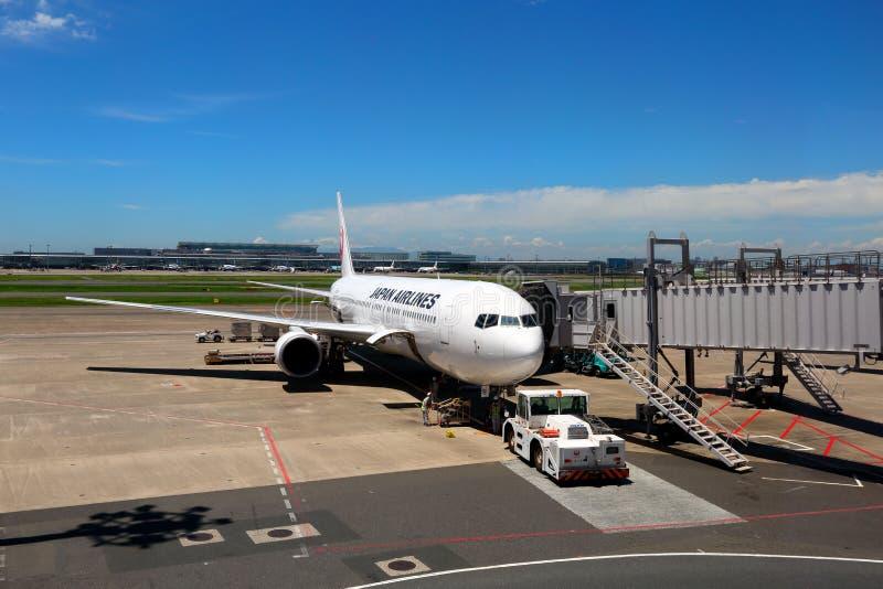 Japón s JAL Airlines foto de archivo libre de regalías