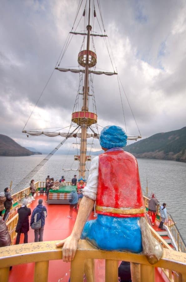 japan łódkowaty jezioro obraz stock