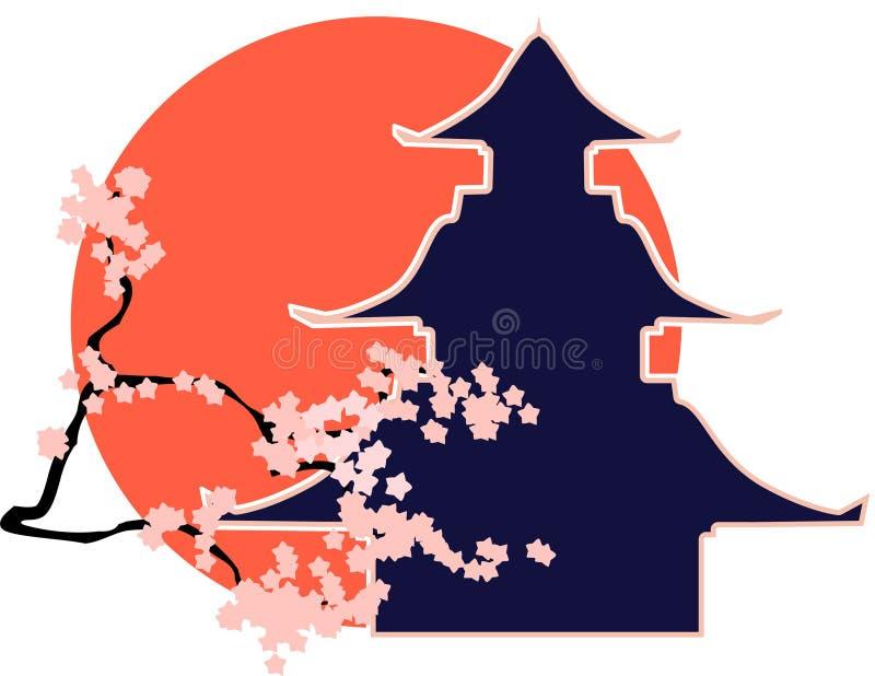 Download Japan stock vector. Illustration of pagoda, japan, sunrise - 17782021