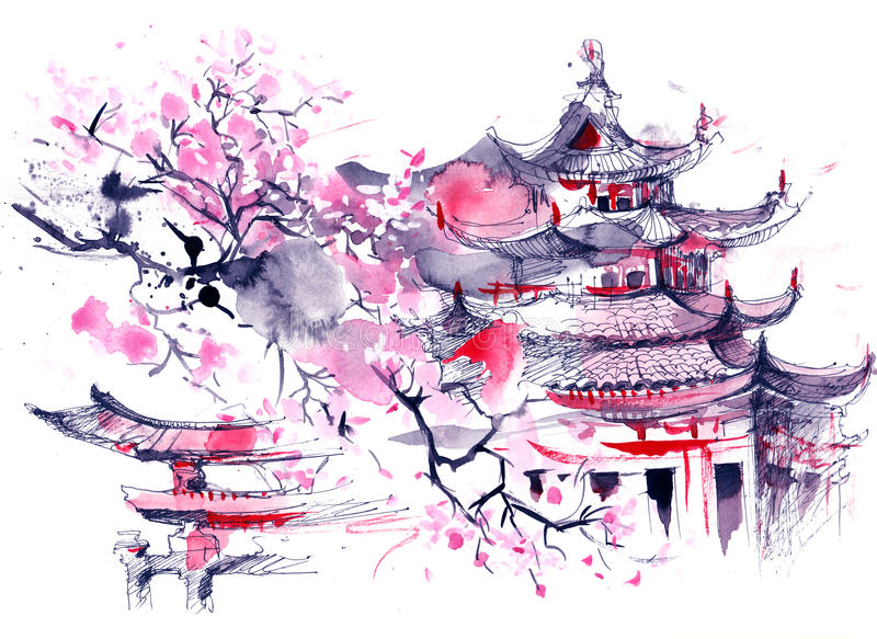 japan illustration stock