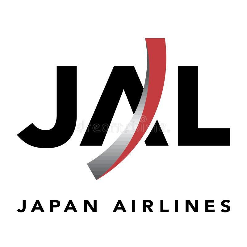 Japan Airlines-embleempictogram stock illustratie