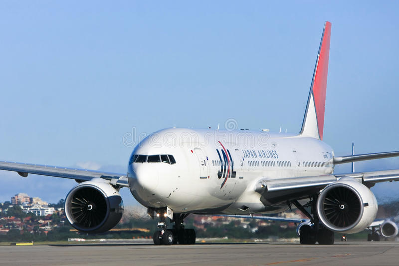 Japan Airlines Jet Airliner On Runway Editorial Photography