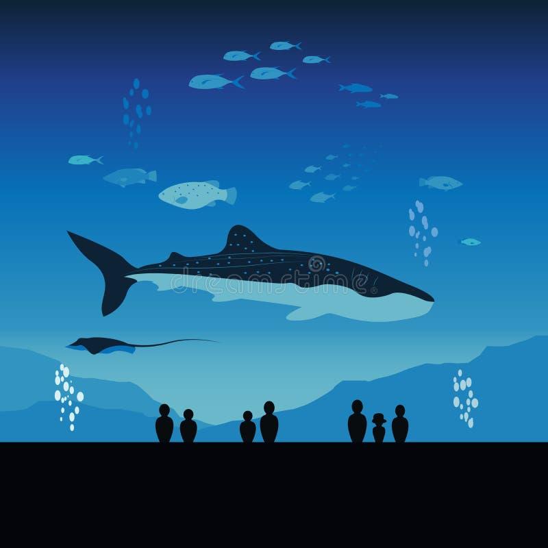 Japan-Aquarium und Unterwasser-Marine Life Full stock abbildung