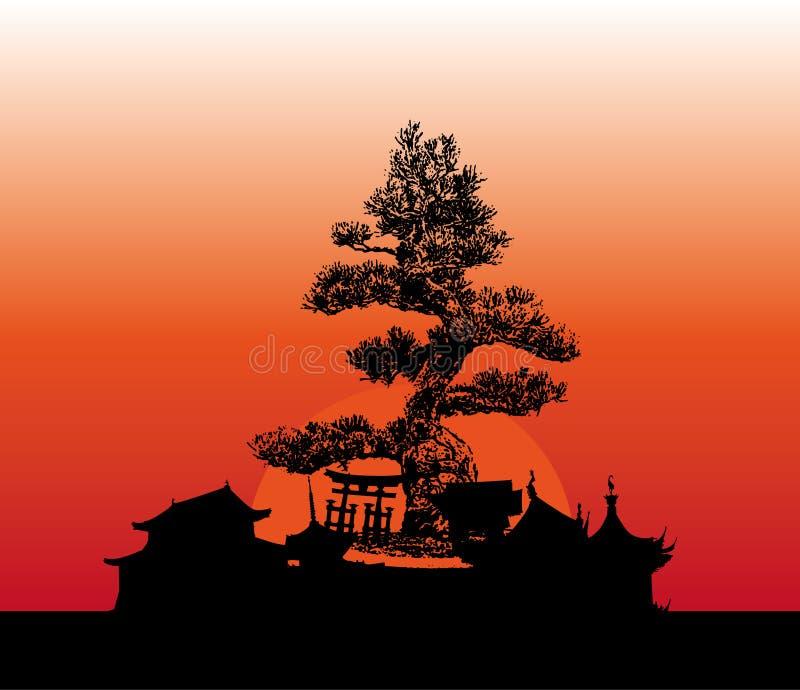 Japan-Architektur vektor abbildung