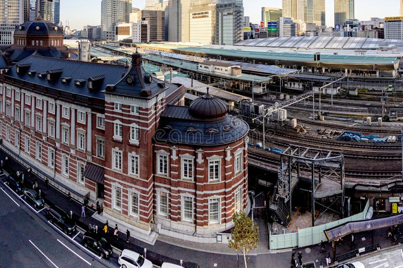 Japan - AUG 20 2019 - View of tokyo train station stock photo