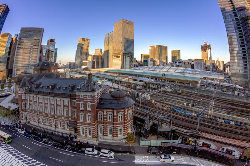 Japan - AUG 20 2019 - View of tokyo train station stock image