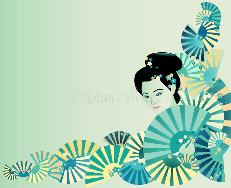 Japan background stock illustration