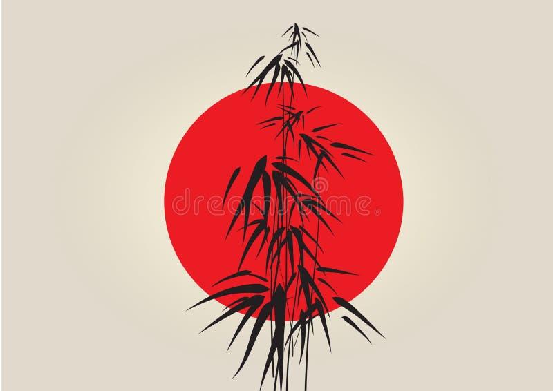 Japan bambu vektor illustrationer