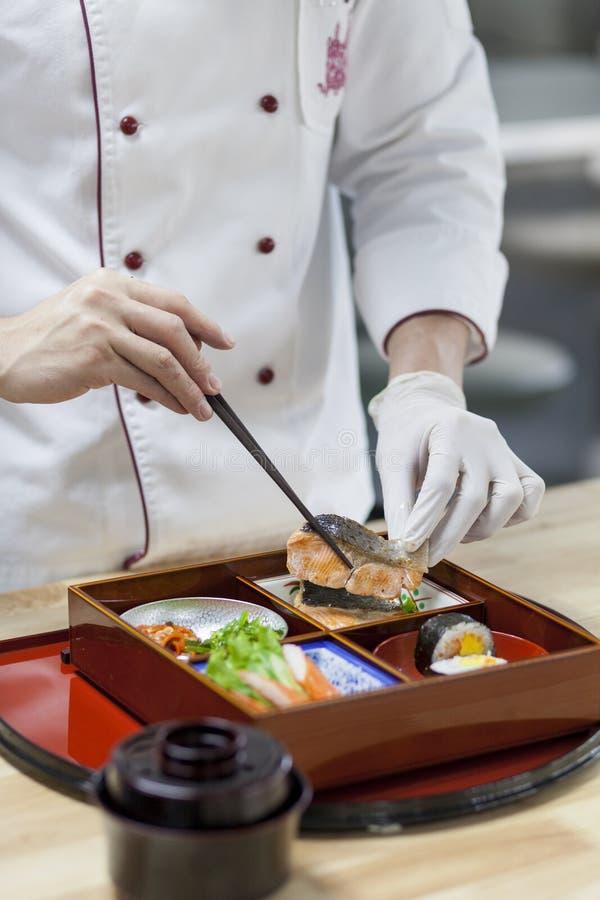 Japan Bento Preparing royaltyfri foto