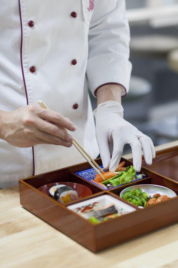 Japan Bento Preparing royaltyfria bilder