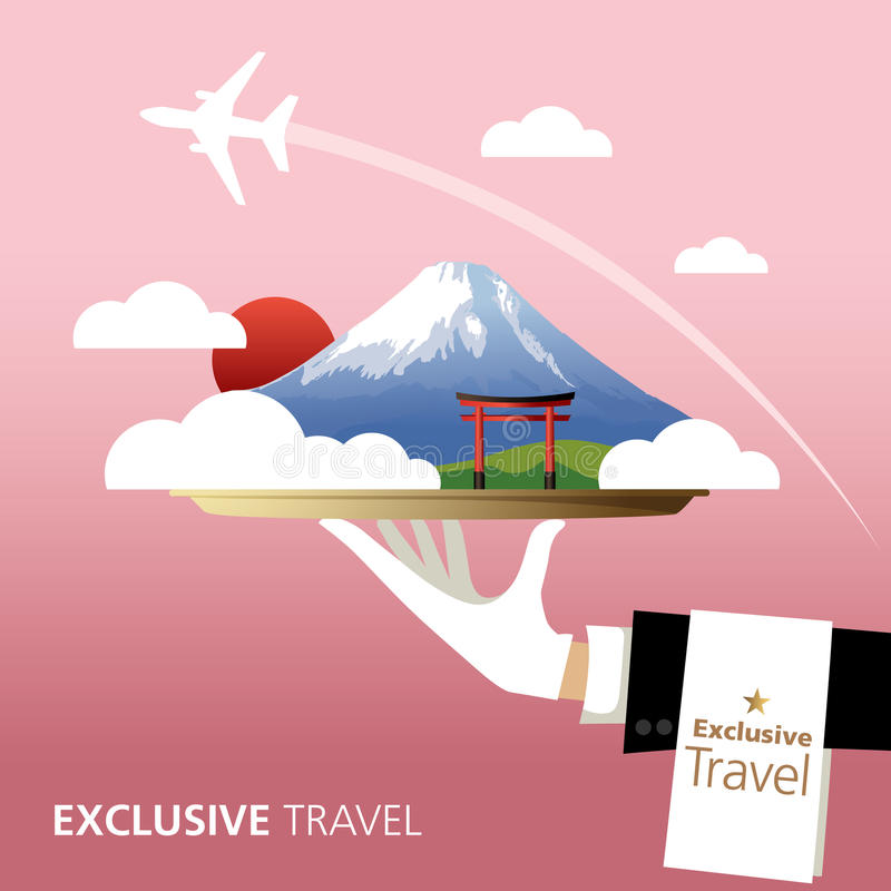 Japan, bestemming royalty-vrije illustratie