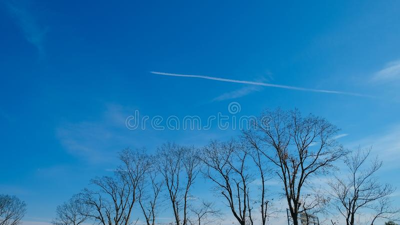 Chiba Perfect blue sky on new year 1st stock images