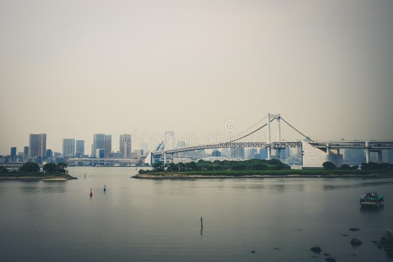 japan bridżowa tęcza Tokyo fotografia royalty free