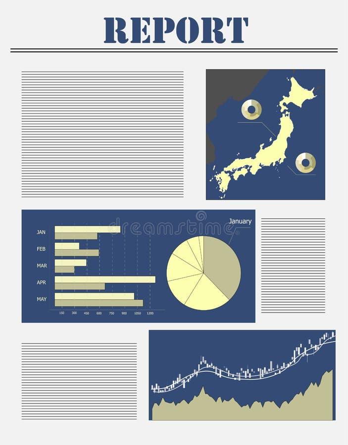 Japan business report stock illustration