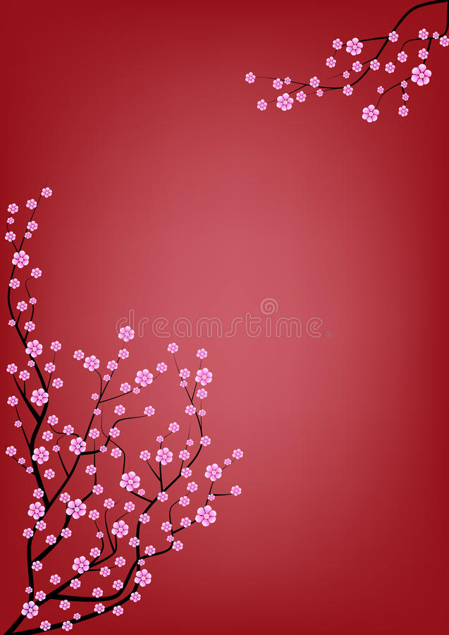 Japan cherry blossom background stock images