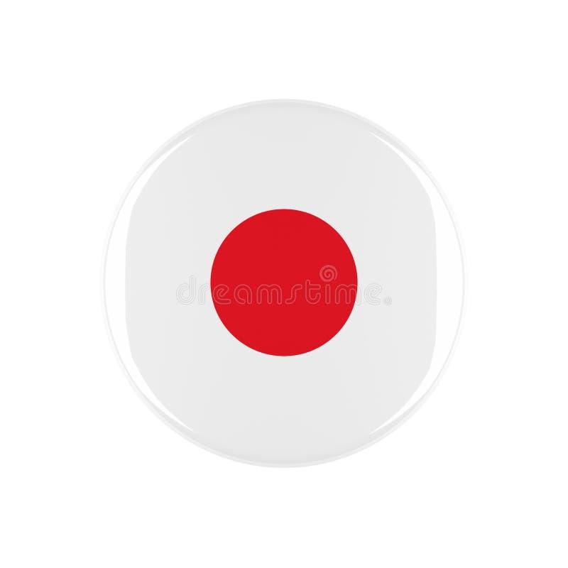 Japan 3d knapp stock illustrationer