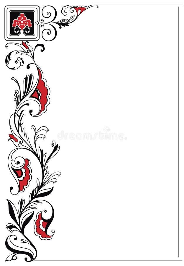 Japan decor frame stock image