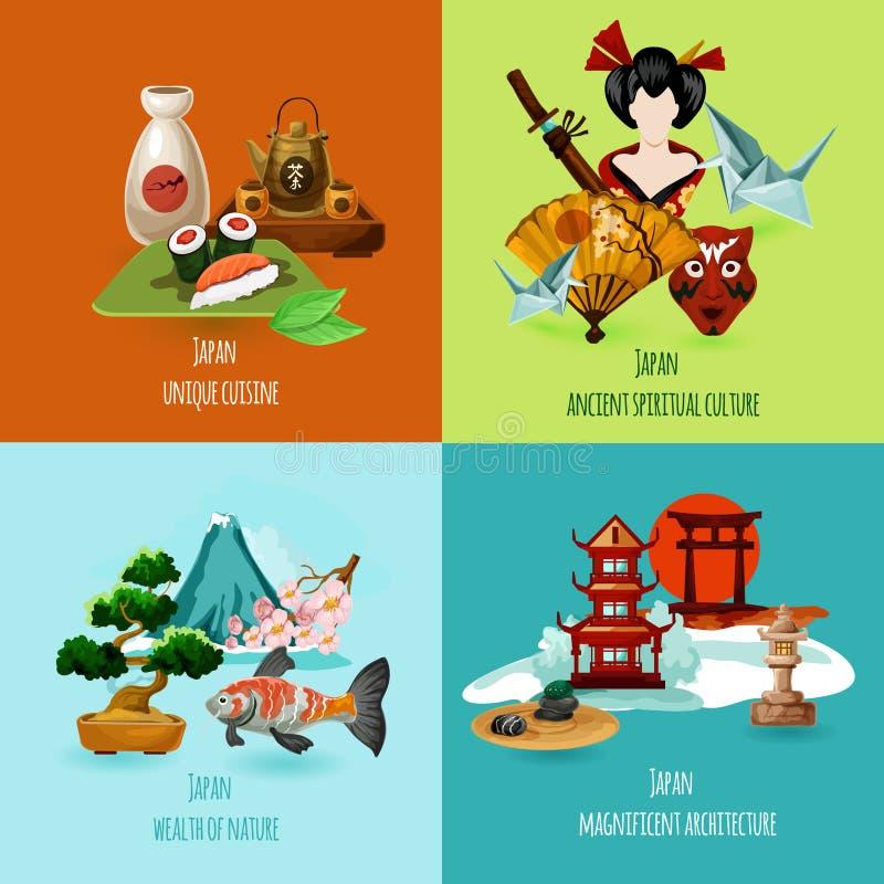 Japan Design Set royalty free illustration