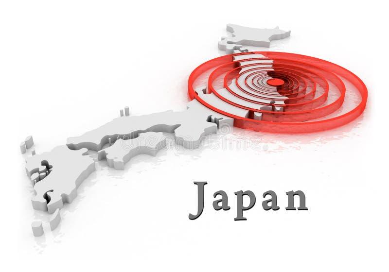 Japan disaster at nuclear station royalty free illustration
