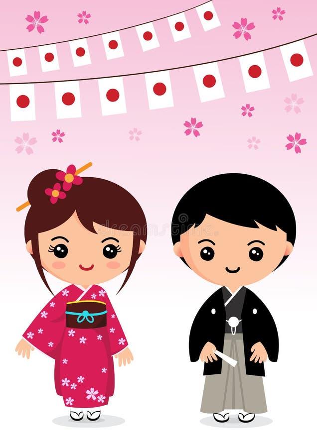 Japan docka vektor illustrationer