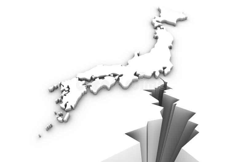 Japan earthquake royalty free illustration
