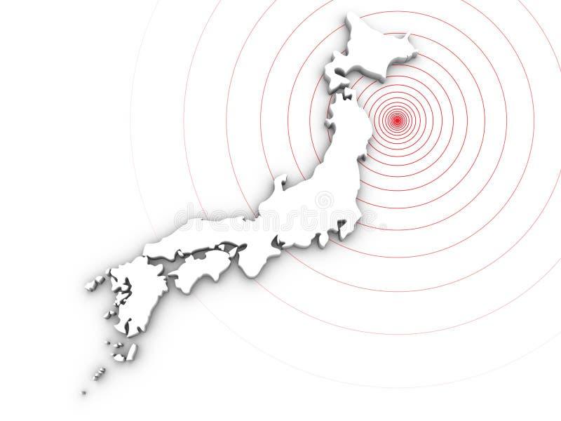 Japan-Erdbebenunfall 2011 lizenzfreie abbildung