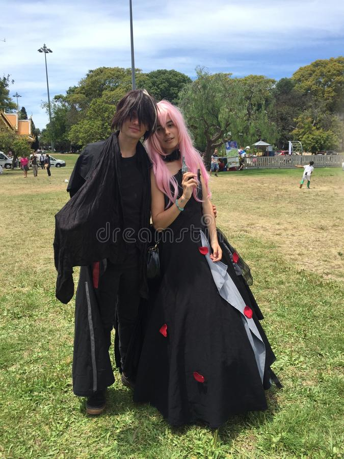 Japan Festival in Lisbon 22nd June - Cosplay girls. The cosplay began with the creation of fictional characters, and today it caters to all branches. They are stock images