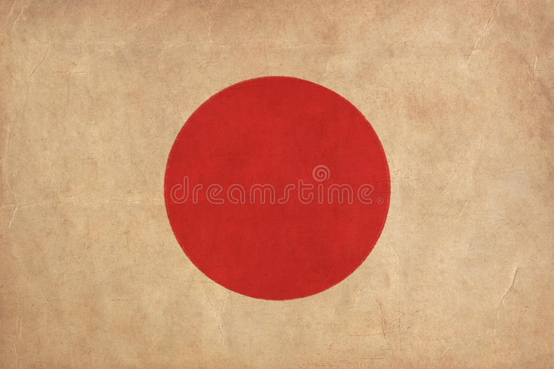 Japan flag drawing stock photography