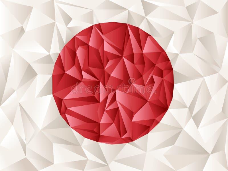 Japan flag origami vector illustration
