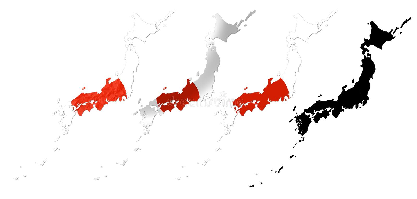 Japan Flag Over Map Collage Royalty Free Stock Image Image - Japan map flag