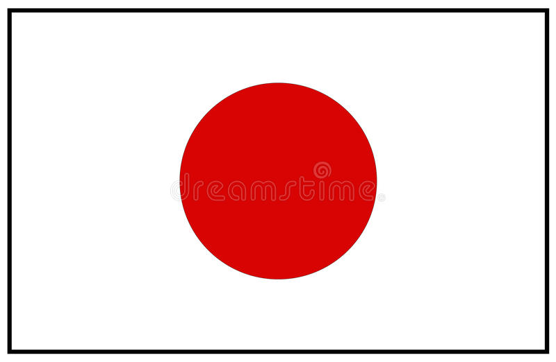 Japan flag royalty free illustration
