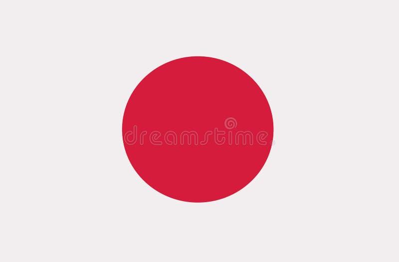 Japan flag vector vector illustration