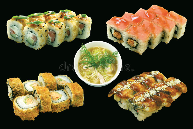 Download Japan food set isolated stock photo. Image of dinner - 28072276