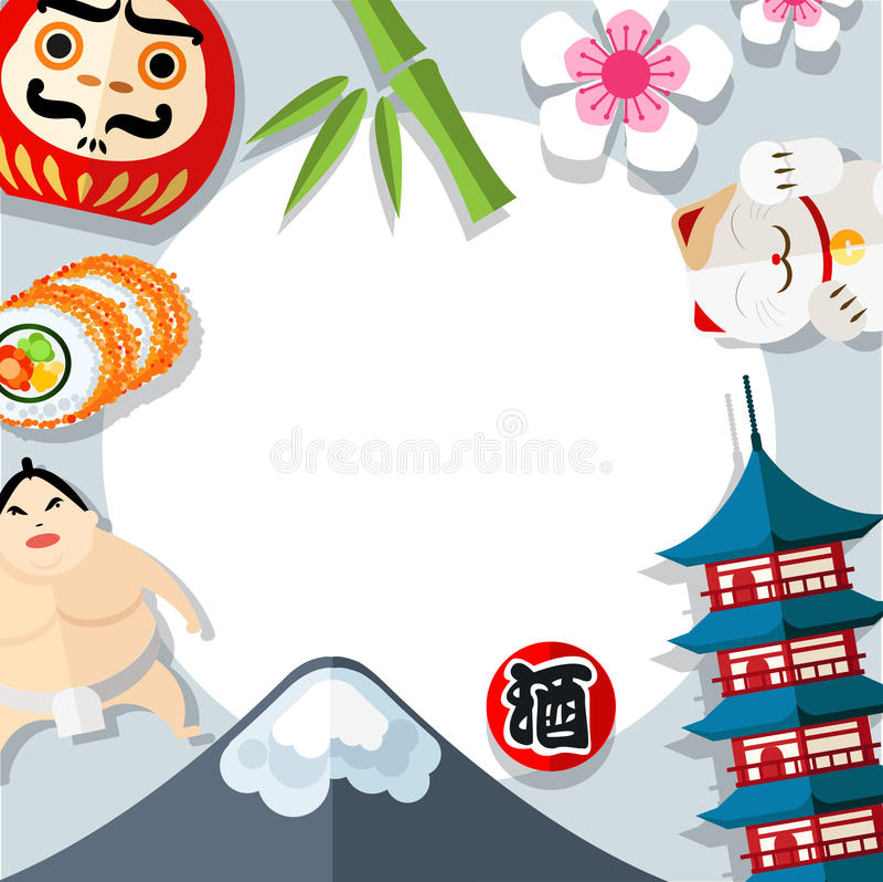 Japan frame design. stock illustration. Illustration of decoration ...