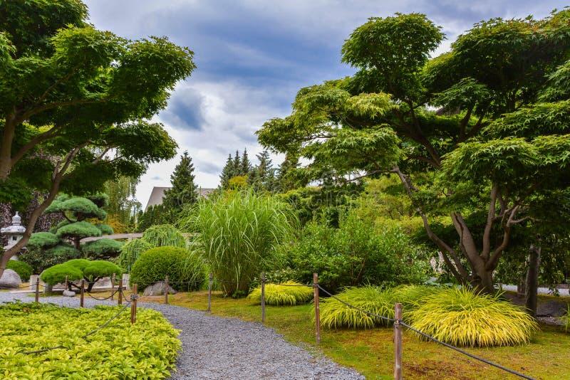 Japan garden stock photo