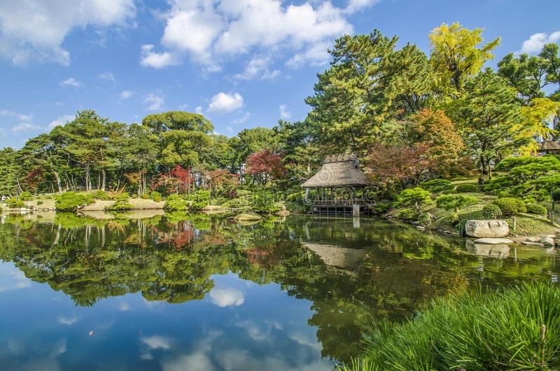 Japan Garden and reflection. Fell relax royalty free stock photos