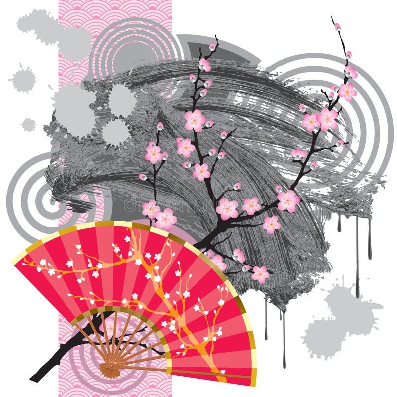 Japan-Gebläse mit einem Fleck lizenzfreie abbildung