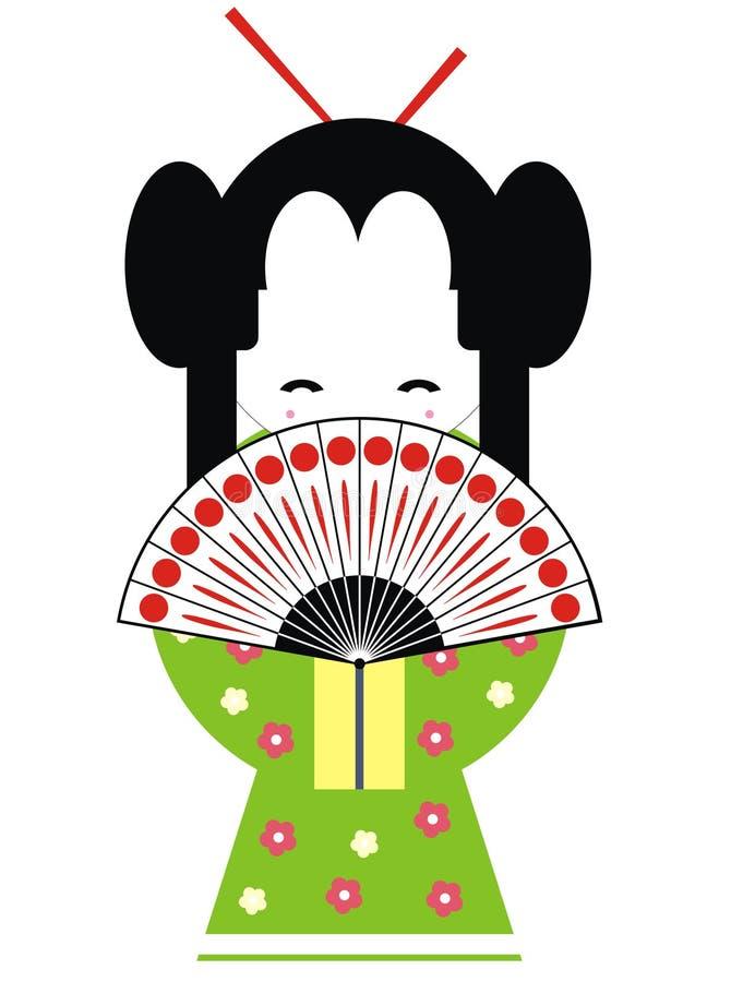 Download Japan geisha stock illustration. Image of illustration - 10733382