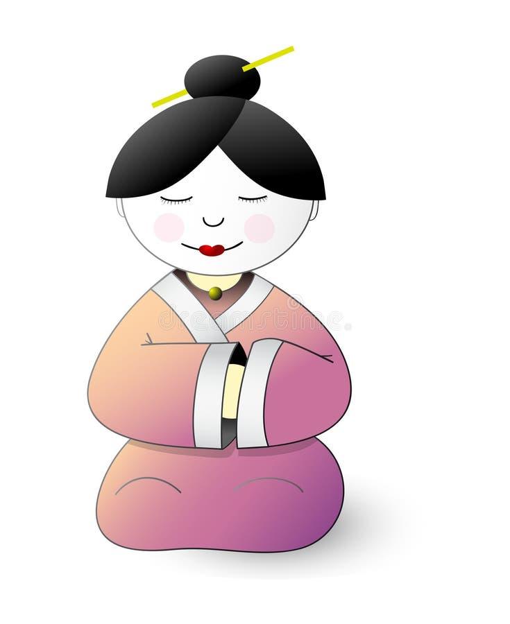 Download Japan geisha cartoon stock vector. Image of japan, east - 21840074
