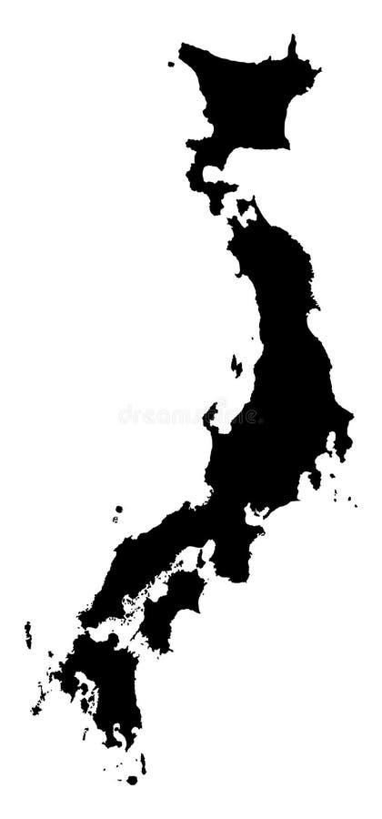 Japan höjdpunkt specificerad översikt vektor illustrationer