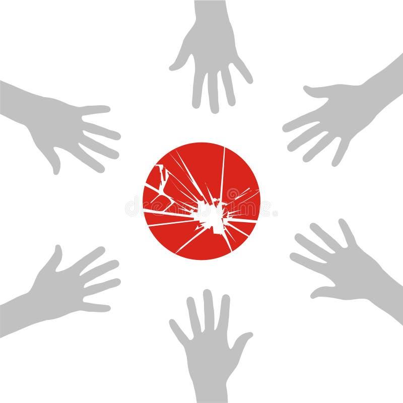 Download Japan helps stock vector. Image of atomic, hand, japan - 19059526