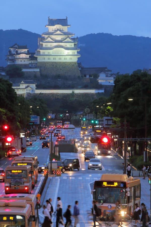 Japan: Het Kasteel van Himeji stock afbeeldingen