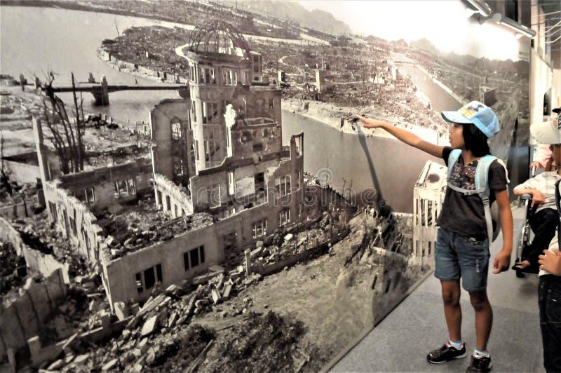 Japan Hiroshima fredmuseum arkivfoton