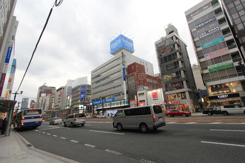 Japan Hiroshima street view. stock photo
