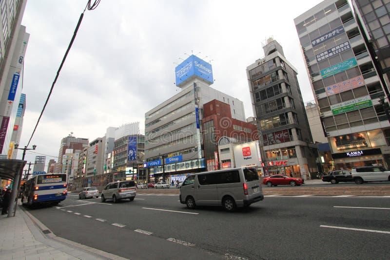 Japan Hiroshima street view. stock photo